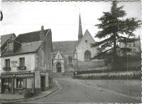 Saint-Cyr-sur-Loire - L'Eglise et le Café Tabac CRESPIN - Epreuve pour carte postale.
