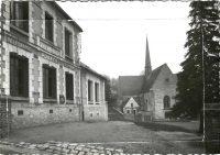 Saint Cyr sur Loire - L'église, la Place et le bureau de Poste - Epreuve pour carte postale.